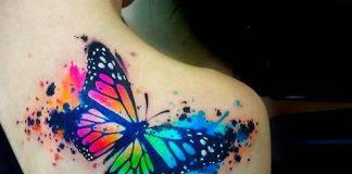 watercolors tattoos