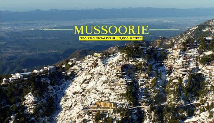 Winter tourism in Mussoorie