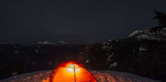 spend a night in a tent