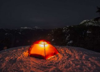 spend a night in a tent