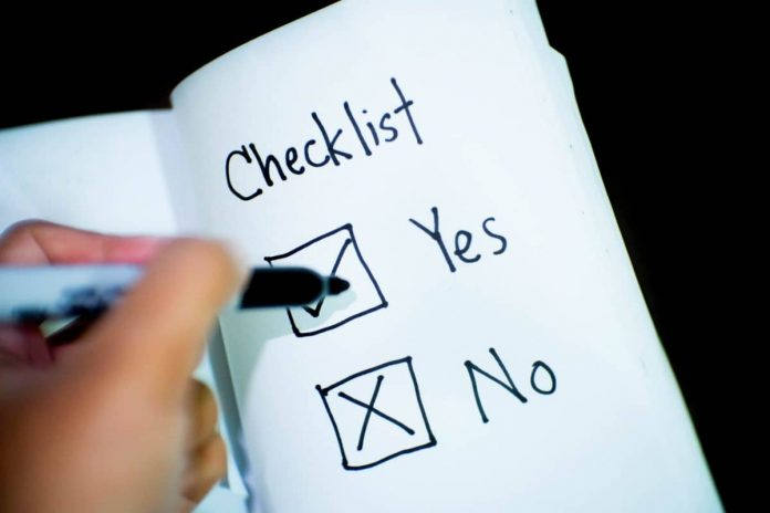 project manager checklist